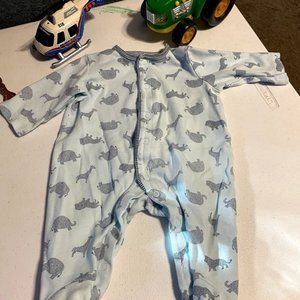 Little Me Boy's Footed Pajamas
